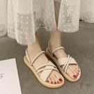 平底涼鞋女2020夏季新款學生百搭網紅超火氣質仙女風羅馬鞋ins潮