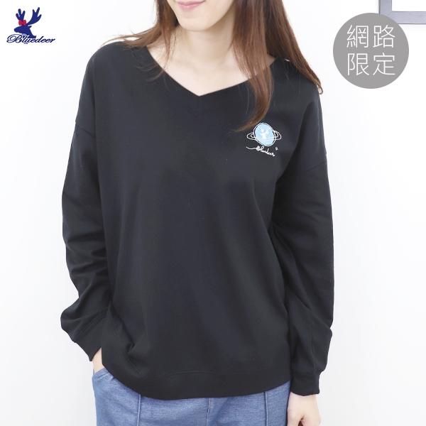 【網路限定】藍鹿-刺繡棉T
