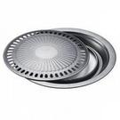 免運費 捷寶 不鏽鋼+不沾塗層 圓形 低脂不沾 烤盤/烤肉盤 JCH880/ JCH-880