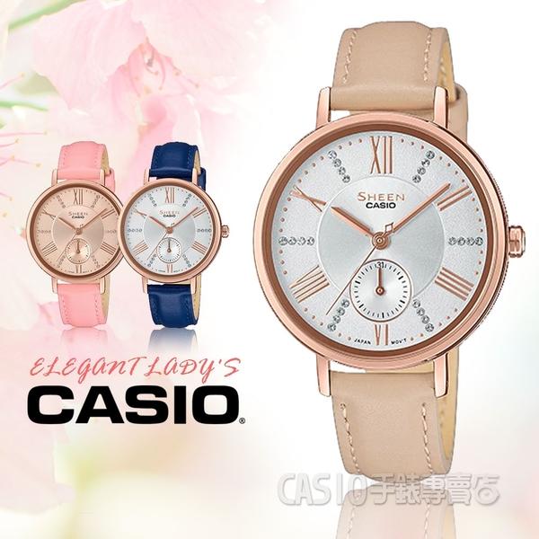 CASIO 卡西歐 手錶專賣店 SHE-3066PGL-7B 氣質女錶 米x玫瑰金 SHE-3066PGL