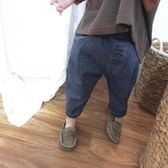 018春裝新款兒童牛仔褲正韓休閒男女童闊腿褲翻邊長褲潮【全館免運店鋪有優惠】