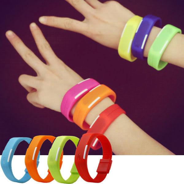 *Watch-123 手錶趣*致青春之型色隨我-繽紛觸控LED智能手環腕錶 (8色可選)