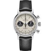 Hamilton 漢米爾頓INTRA-MATIC 正熊貓手上鍊計時機械錶(H38429710)