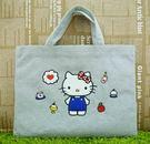【震撼精品百貨】Hello Kitty 凱蒂貓~橫式提袋~灰色【共1款】