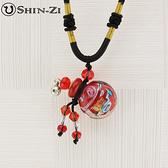 手工項鍊 琉璃項鍊 精油項鍊 中國繩項鍊 小圓款