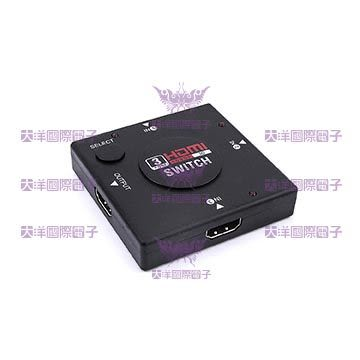 ◤大洋國際電子◢ HDMI切換器 3進1出 一切三 1080P 3D 0828