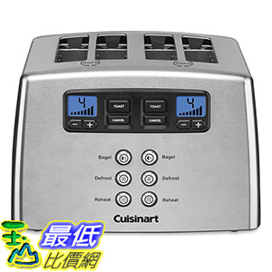 [美國直購] Cuisinart CPT-440 Touch to Toast Leverless 4-Slice Toaster 烤麵包機