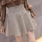 格子半身裙女2021新款夏韓版時尚學院風復古高腰包臀百褶裙短裙 茱莉亞