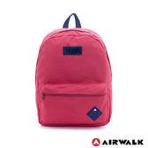 美國 AIRWALK 極簡輕生活 格紋尼龍防潑水後背包 -中紅
