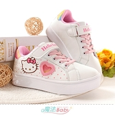 中大女童鞋 Hello kitty正版大女孩俏麗休閒運動鞋 魔法Baby
