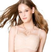 思薇爾-抹胸系列A-C罩包覆內衣(杏膚色)