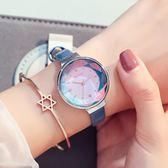 手錶女學生韓版簡約女表時尚潮流ulzzang休閒皮帶防水石英表  igo 卡布奇諾