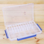 ✭慢思行✭【J189-1】28格透明儲物收納盒 飾品 首飾 有蓋 多格 創意 分類 藥盒 材料 手作