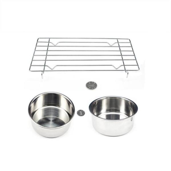【快速出貨】電烤盤搭檔 不鏽鋼三件套 電烤盤配件 不鏽鋼盆 接油盤 燒烤架 電烤盤黃金組合