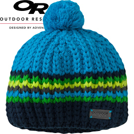 【Outdoor Research 美國 兒童 KIDS BARROW BEANIE 透氣保暖帽 藍】243625CA/兒童毛帽/保暖帽/針織帽