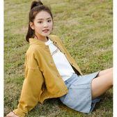 春裝新款牛仔外套女短款寬鬆學生韓版bf棒球服原宿風夾克外套  草莓妞妞