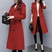 風衣女中長款秋季女裝新款韓版氣質流行修身過膝春秋長款外套