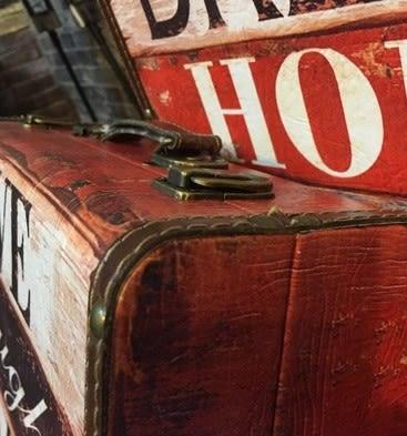 [協貿國際]   手提箱擺件咖啡廳櫥窗裝飾品擺設  (1套入)