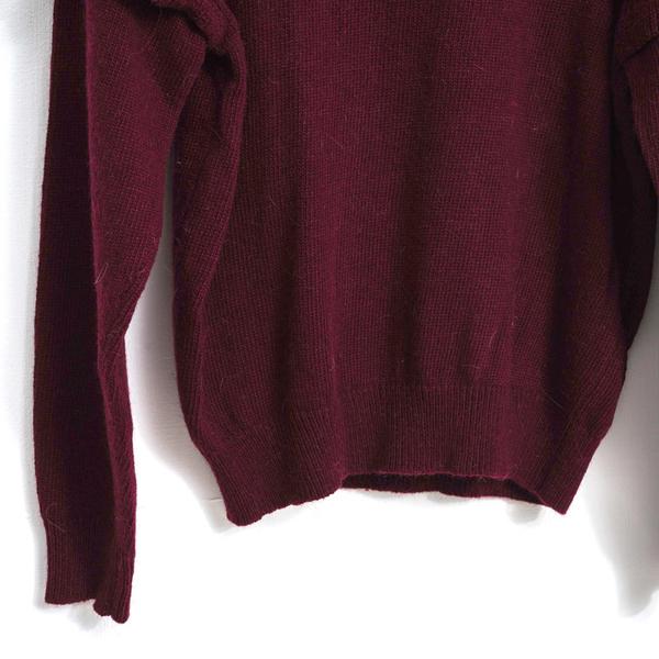 3折出清[H2O]袖臂波浪設計百搭圓領10%兔毛上衣-紅/白/灰色 #8630008