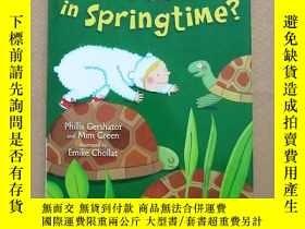 二手書博民逛書店who s罕見awake in springtime(英文原版
