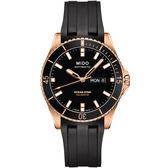【僾瑪精品】MIDO 美度 OCEAN STAR 海洋之星系列 機械潛水錶-黑x玫瑰金/M0264303705100