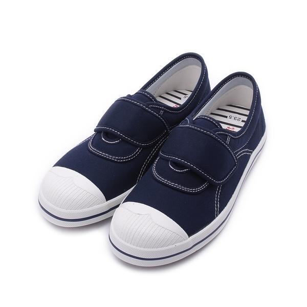 MY RABBIT 縫線魔鬼氈休閒鞋 藍 MT829A 女鞋