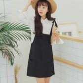 吊帶裙-純色街頭時尚簡約休閒女背帶裙73rx56【巴黎精品】