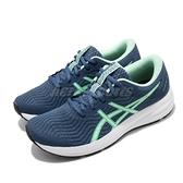 Asics 慢跑鞋 Patriot 12 藍 綠 女鞋 入門款 基本款 緩衝設計 運動鞋【ACS】 1012A705400