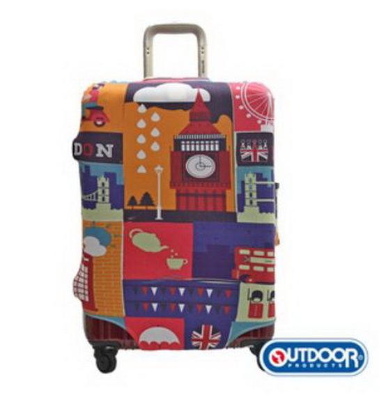 OUTDOOR-行李箱保護套-L-26~29吋(英倫) ODS17B02LEN