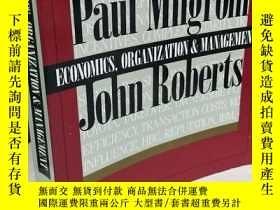 二手書博民逛書店Economics,罕見organization and management 【英文原版, 佳】Y11617