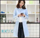 韓版新款時尚修身長袖藥店美容院醫護工作服半永久紋繡師服LG-881965