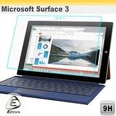 【Ezstick】Microsoft Surface 3 平板專用 鏡面鋼化玻璃膜 靜電吸附263.5x183mm