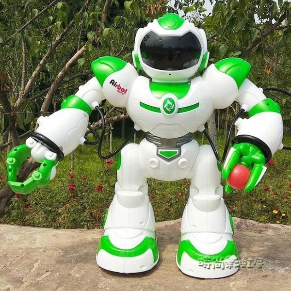 電動遙控機器人智慧對話小胖語音會跳舞電動機械戰警兒童玩具MBS「時尚彩紅屋」