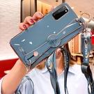 三星note20皮手機殼 SamSung N10/N9/N8保護套 電鍍腕帶硅膠Galaxy S21 Ultra手機套 三星S20/S10/S9/S8Plus保護殼