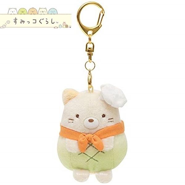 日本限定 角落生物  麵包店系列 貓咪 & 哈密瓜波蘿麵包 鑰匙圈掛鉤吊飾 玩偶娃娃