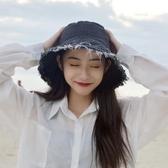 牛仔帽春夏季帽子女網紅牛仔破洞漁夫帽甜美可愛日系顯臉小防曬帽太陽帽快速出貨