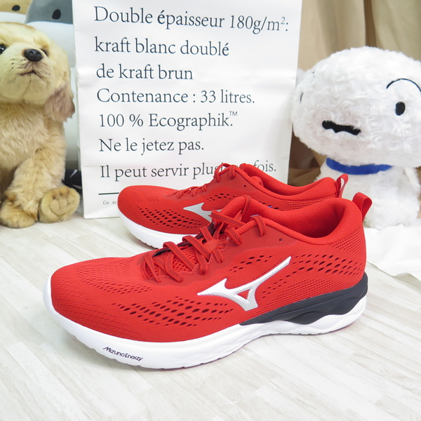 Mizuno WAVE REVOLT 2 WIDE 男款 慢跑鞋 3E寬楦 J1GC218505 紅【iSport】