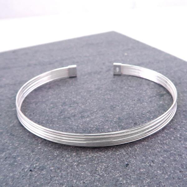 光之迴圈 925純銀C型手環 開口活圍手環