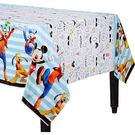 迪士尼 餐具 塑膠桌巾-米奇很忙