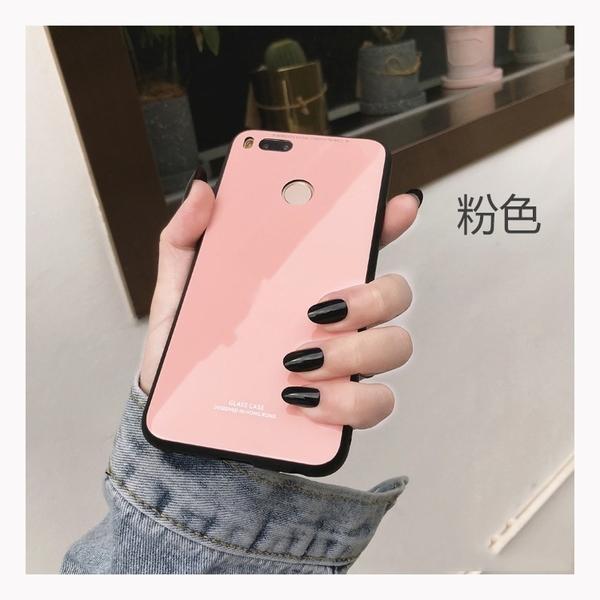 小米A2 小米9 9T 8 小米MAX3 紅米6 純色鋼化玻璃手機殼 防摔防刮手機殼 全包邊鏡頭保護殼