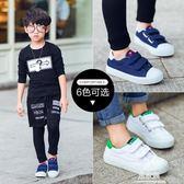 兒童鞋帆布鞋小白鞋女童鞋男童鞋子白色板鞋寶寶球   易家樂