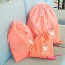 wei-ni 可愛三件套束口袋(大+中+小)各1 旅行收納袋 衣物分類袋 運動收納袋 游泳分類袋 收納袋