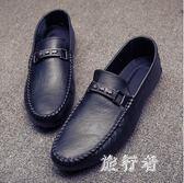 男士套腳豆豆鞋 2019春夏季新款懶人低幫潮鞋休閒日常男皮鞋 BT5674【旅行者】