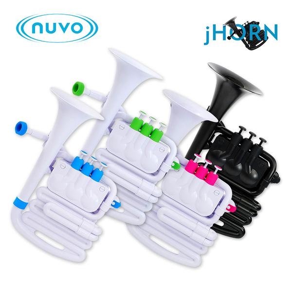 小叮噹的店 - NUVO jHorn 新型管樂器 塑膠黃銅樂器 塑膠管樂器 附收納盒 背帶 號嘴
