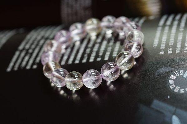 透徹紫鋰輝石 12mm手鍊,粉紫的迷人色澤【喨喨飾品店】開運配飾 / 開運水晶 。N19