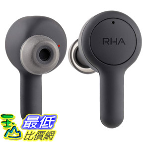 [8美國直購] 耳機 RHA Trueconnect Carbon Black: True Wireless Earbuds with Bluetooth 5 Sweatproof for Sport Activity