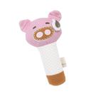 加拿大 Marcus & Marcus 動物樂園有機棉手搖鈴安撫玩偶 粉紅豬