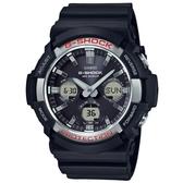 【CASIO】 G-SHOCK 強悍太陽能金屬框三眼錶-黑面銀框(GAS-100-1A)