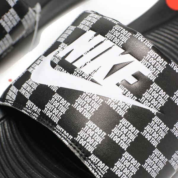 NIKE 拖鞋 VICTORI ONE SLIDE 黑 棋盤格 輕量 運動 休閒 男女 (布魯克林) CN9678-004