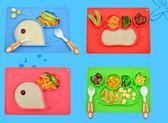 硅膠餐墊兒童一體式餐盤寶寶分格吸盤碗